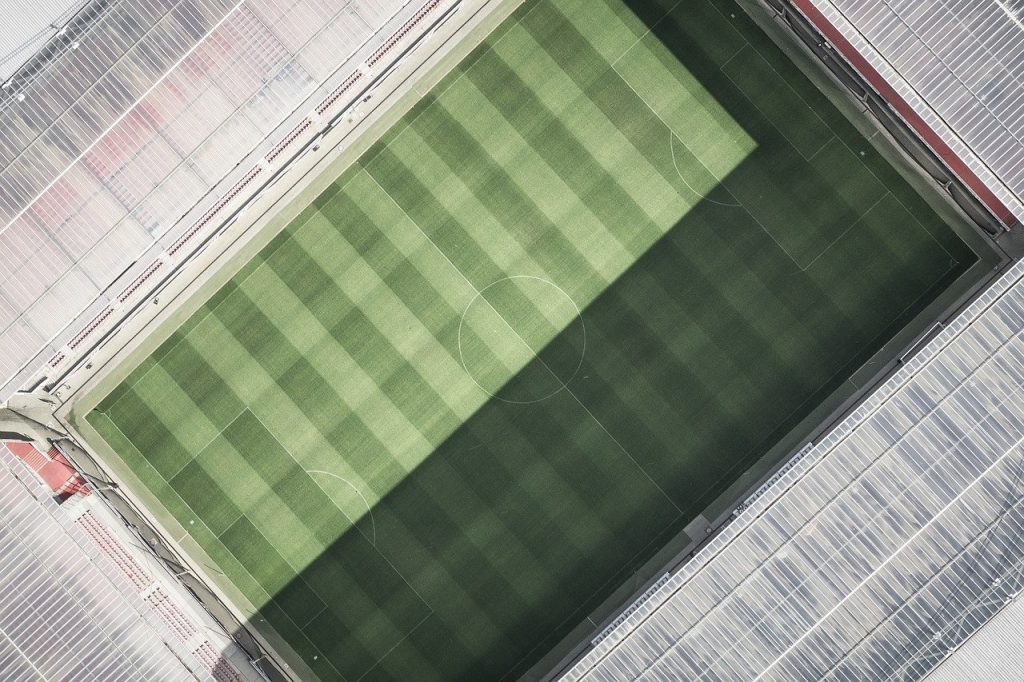 stadium, arena, aerial view